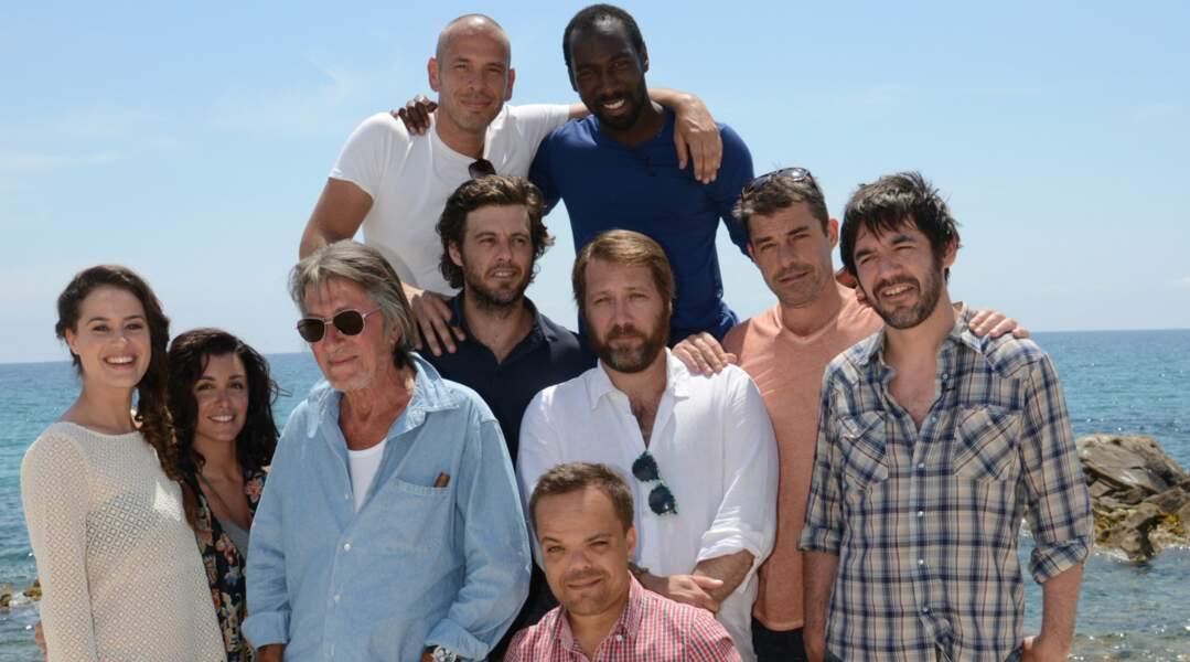 Une photo de groupe (avec Jenifer à gauche) lors d'un voyage de presse en Corse pour la promo du film Les Francis.