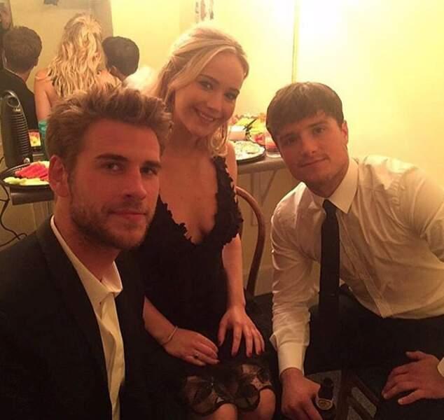 Hey voici le trio de choc de la saga Hunger Games