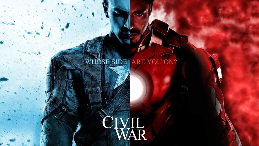 Captain America et Iron Man face à face dans Captain America : Civil War (27/04)