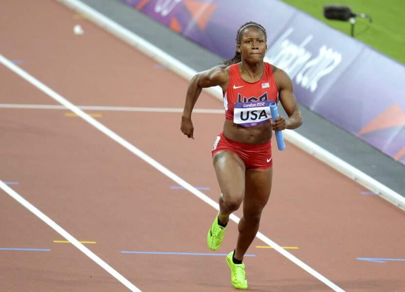 Lauryn Williams a été sacrée championne olympique au 4 X 100 mètres à Londres en 2012...