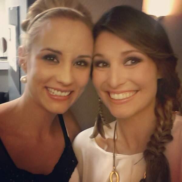 Elodie Gossuin et Laury Thilleman sur la même photo. Les deux meilleures Miss France réunies !