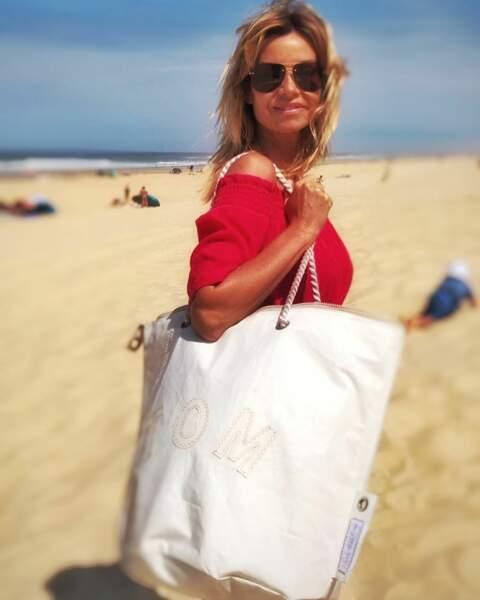 Du côté de Demain nous appartient, Ingrid Chauvin a fait un petit tour à la plage