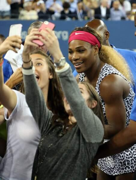 Selfie post-partie de tennis pour Serena Williams.