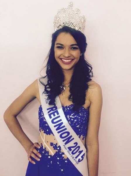 Cette jeune femme s'appelle Azuima Issa et elle est la Miss Réunion 2015