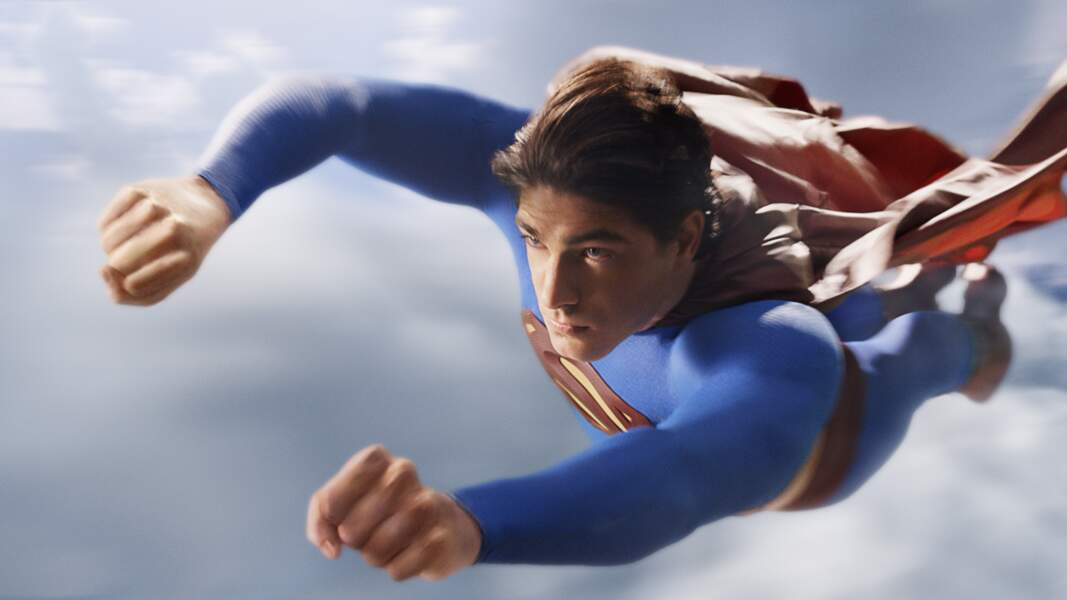 Brandon Routh en plein vol (Superman returns)