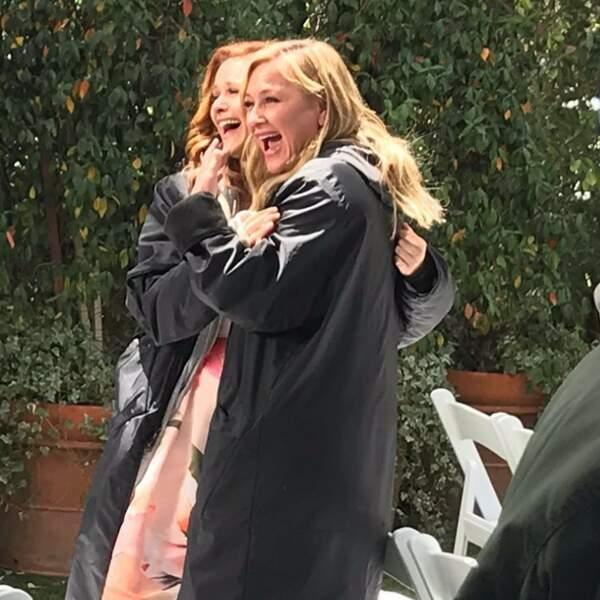 Une fin de tournage pleine de rires pour les deux actrices
