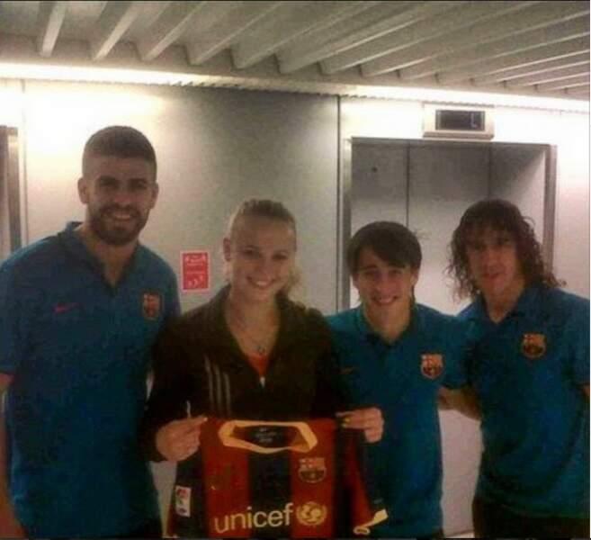 Fan de foot, Caroline Wozniacki était à Berlin pour soutenir le FC Barcelone...