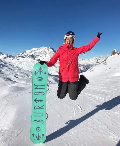 Marine Lorphelin était trop contente d'être à la montagne.
