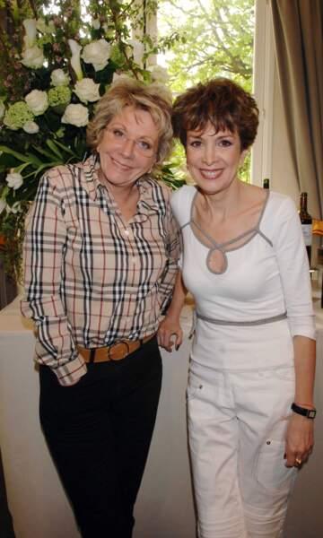 L'une a présenté les infos, l'autre présentait la météo : Catherine et Françoise Laborde.