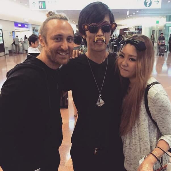 Et David Guetta était avec des fans, au Japon.