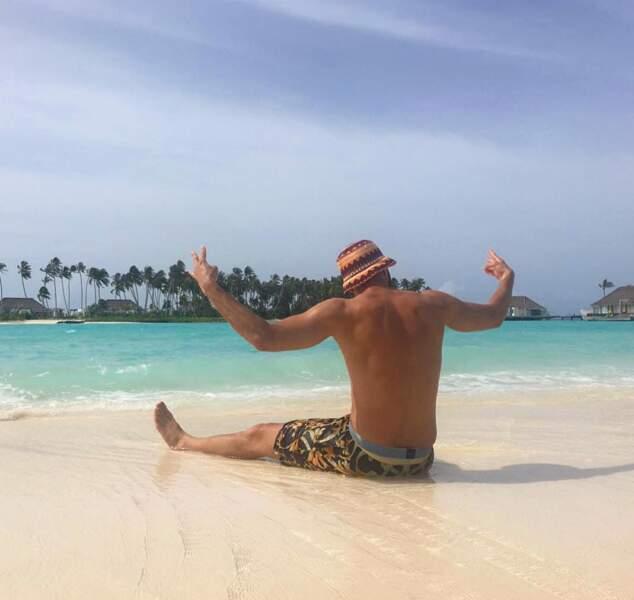 C'est sur de superbes plages des Maldives que l'attaquant du Real Madrid est allé se prélasser