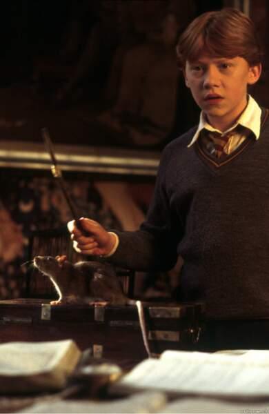 Le personnage de Ron Weasley est incarné par Rupert Grint. C'est son premier grand rôle.