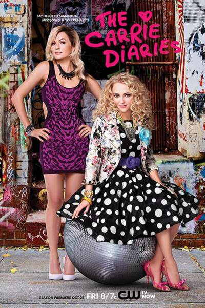 Carrie Bradshaw et Samantha Jones dans la série The Carrie Diaries