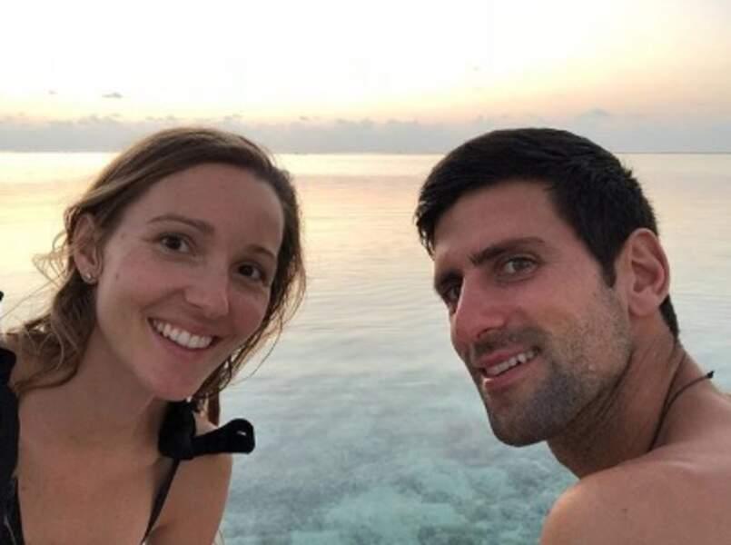 Novak Djokovic et sa belle Jelena.
