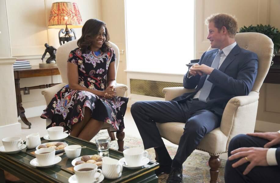Juin : Harry, lui, préfère, en prendre une avec Michelle Obama à la Maison-Blanche