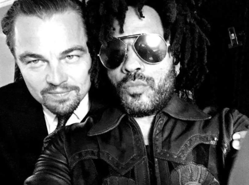 Pendant ce temps-là, des beaux gosses étaient réunis : Leonardo DiCaprio et Lenny Kravitz.