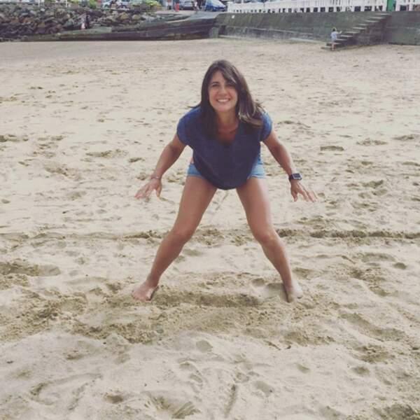 Estelle Denis a fait le goal le temps d'un match sur la plage.