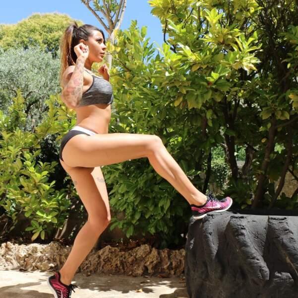 Même à l'autre bout du monde, Shanna continue de faire du sport