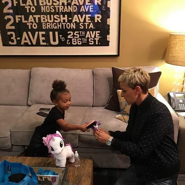 Ellen DeGeneres s'est occupée de North, la petite fille de Kim et Kanye !
