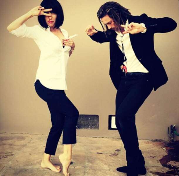 Déguisé en Uma Thurman et John Travolta dans Pulp Fiction !