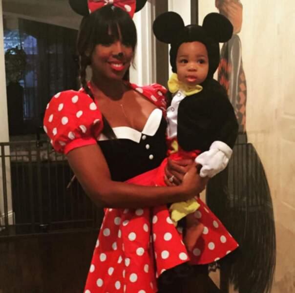 Chez Kelly Rowland, jolie Minnie à Halloween, c'est Titan qui est fan (oui, c'est son vrai prénom).
