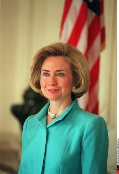 Hillary Clinton, certainement la First Lady (1993/2001) la plus investie qui co gouvernait avec son mari