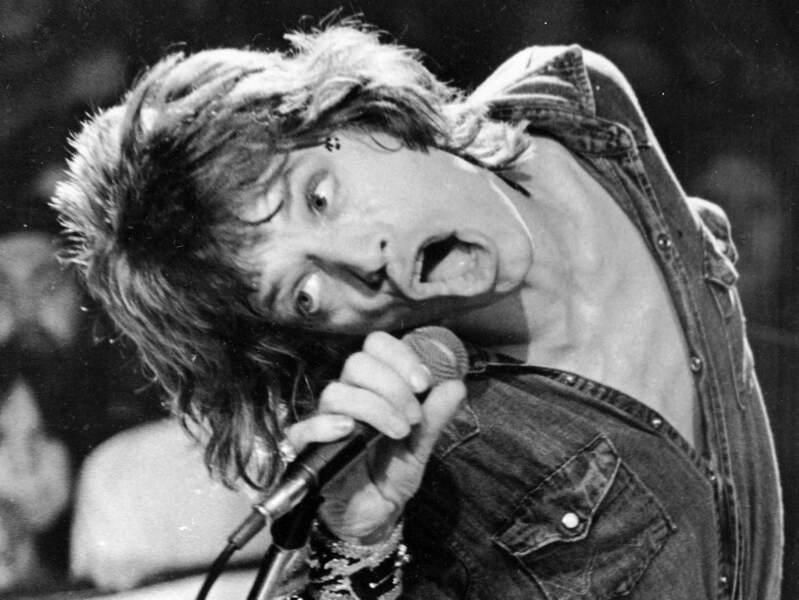 Inégalable Mick Jagger durant un concert des Rolling Stones à San Francisco en 1972