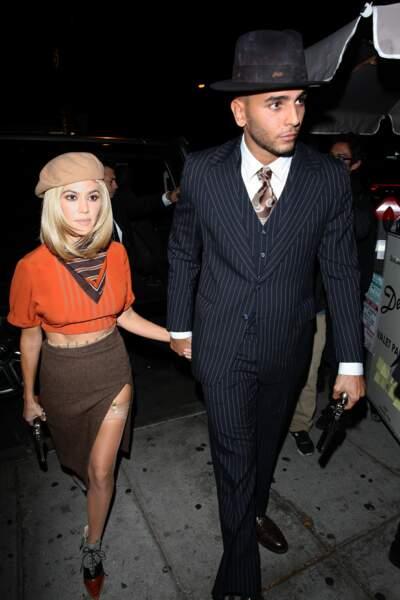 Kourtney Kardashian et Younes Bendjima en tenue de Bonnie & Clyde