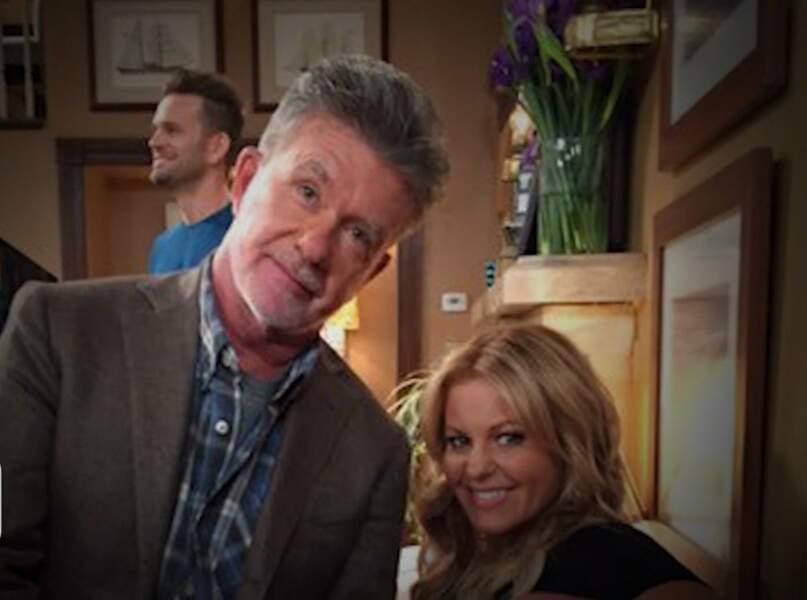 Et également dans la saison 2 de Fuller House avec Candace Cameron, la soeur de Kirk Cameron son fils de fiction