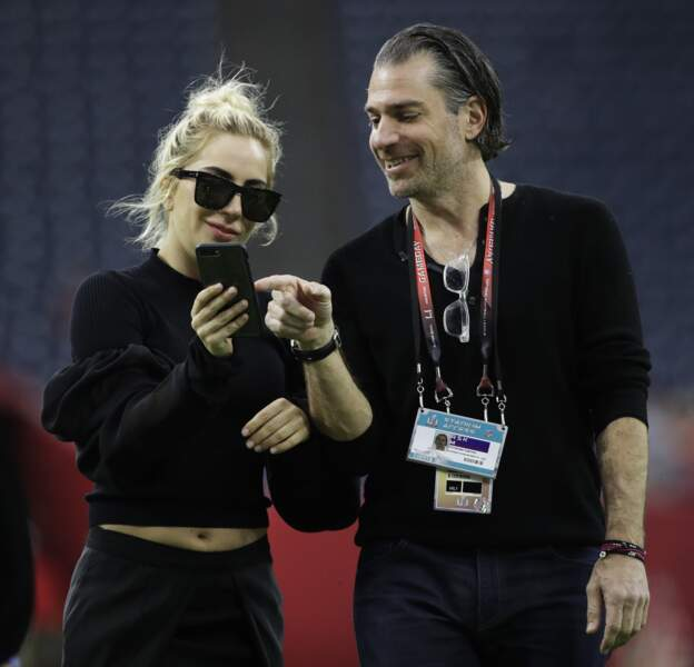 La chanteuse Lady Gaga et le manager Christian Carino.