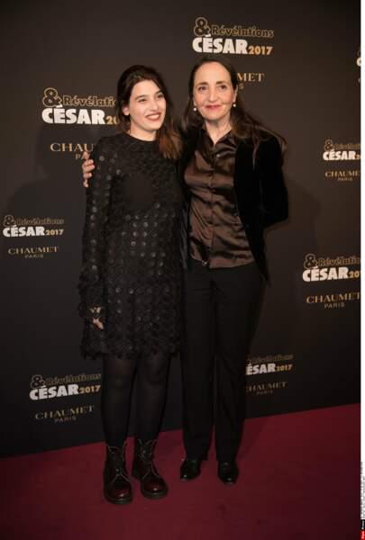 Une belle soirée d'échanges autour du cinéma ! Ici, Manal Issa (Peur de rien) et Dominique Blanc