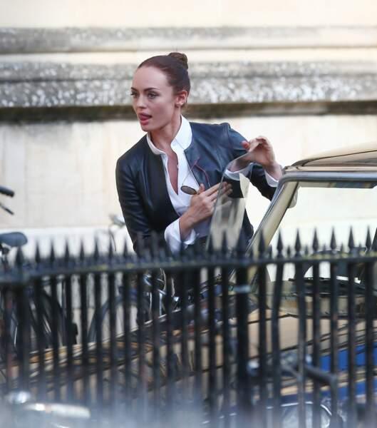 Laura Haddock à Londres sur le tournage de Transformers : The Last Knight