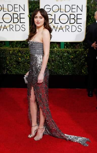 Dakota Johnson, sa collègue dans le film, également présente sur le tapis rouge