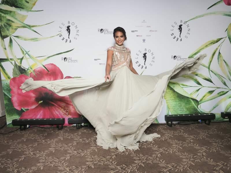 Vaimalama Chaves, Miss France 2019, lors de la soirée de Gala