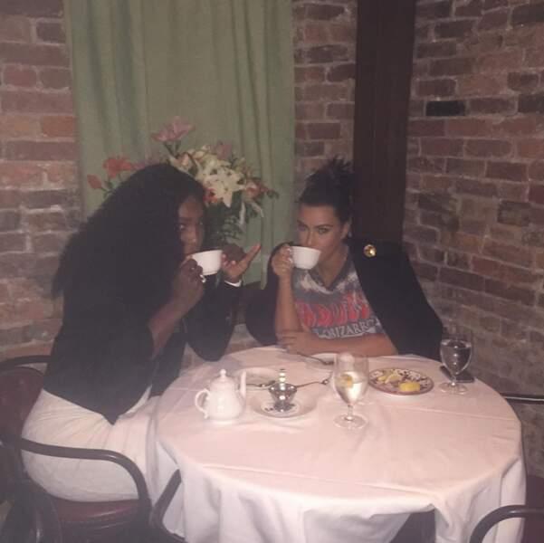 L'amitié improbable du jour c'est entre Serena Williams et Kim Kardashian.