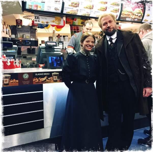 L'actrice et François Damiens au MacDo !