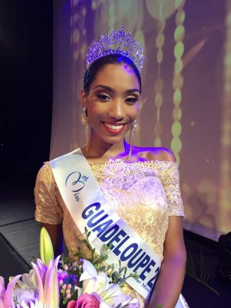 Johane Matignon (18 ans), Miss Guadeloupe, élue au Gosier le 22 juillet 2017