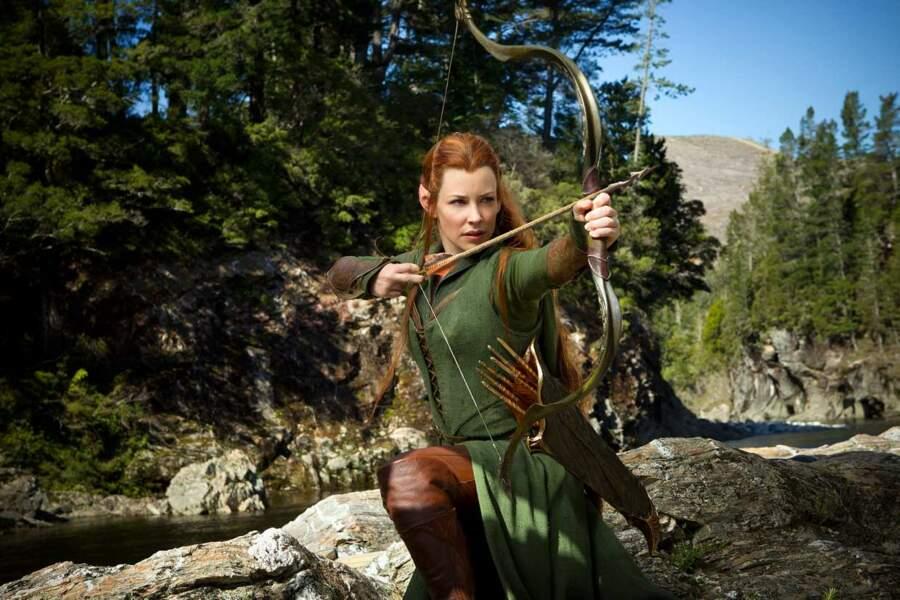 Evangeline Lilly dans Le Hobbit : La désolation de Smaug