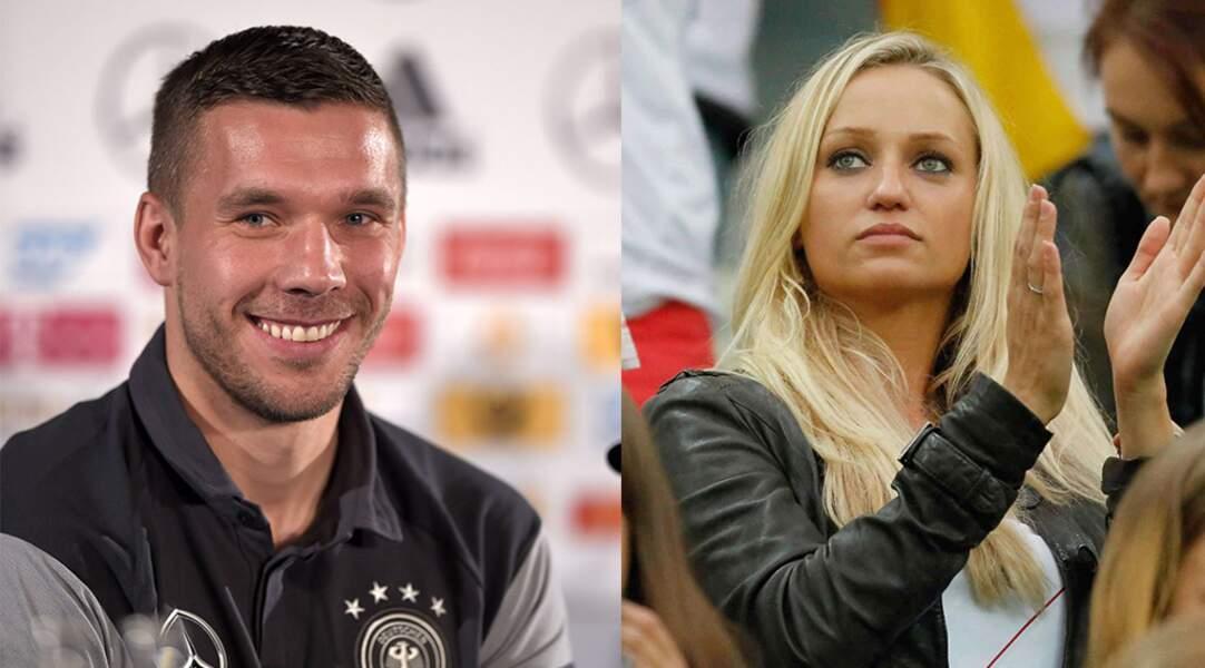 Heureux évènement également pour le footballeur Lukas Podolski et sa compagne Monika.