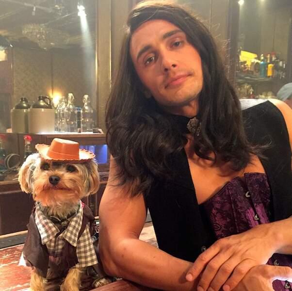 Allez, on se quitte sur cette photo de James Franco, beaucoup trop étrange pour être commentée.