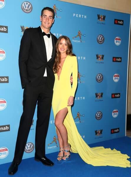 L'Américain John Isner et sa très jolie compagne, Madison McKinley