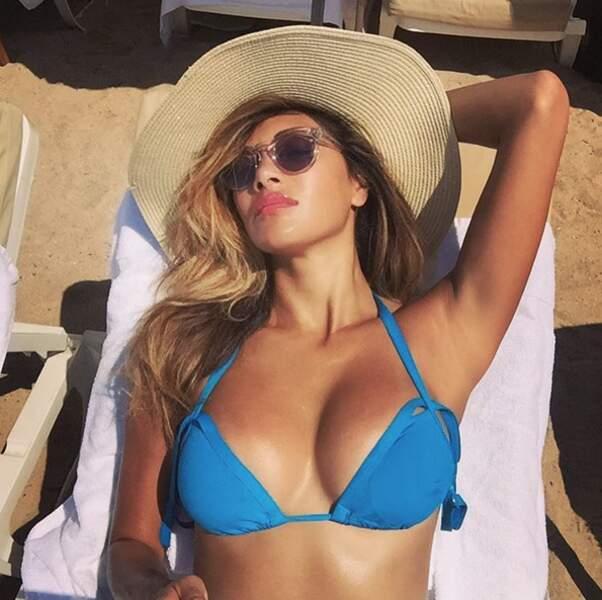 Pas de topless pour Nicole Scherzinger mais ce sublime bikini bleu.