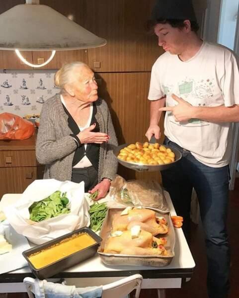 Jean Imbert a cuisiné avec sa mémé et on aurait bien aimé être conviés.