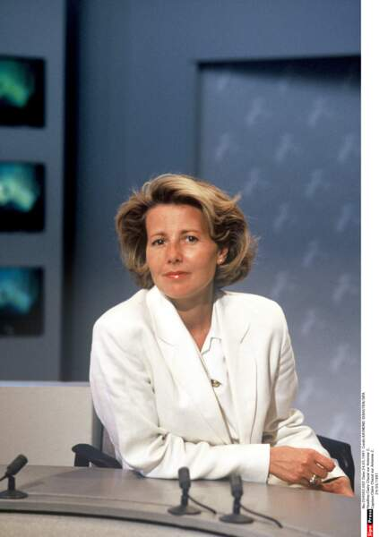 En 1991, Claire Chazal est sur Antenne 2.