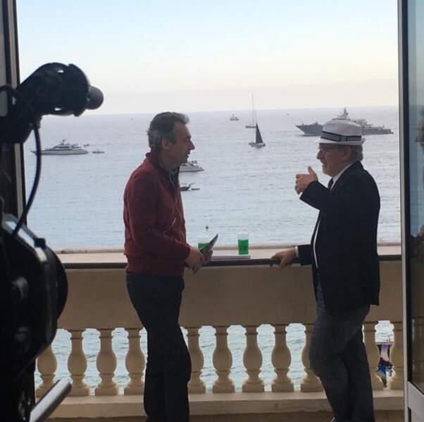Michel Denisot interviewe le maître Steven Spielberg