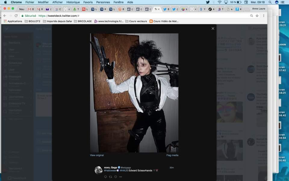 Lady Gaga est plus flippante que Johnny Depp en Edouard aux mains d'argent