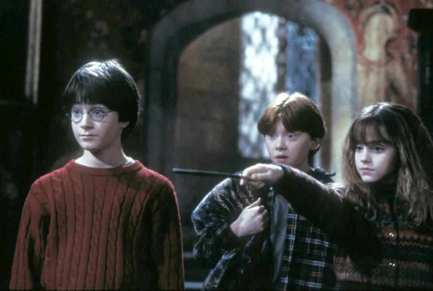 Mais Harry n'est pas seul dans ses aventures. A l'école des sorciers, il fait la connaissance de Ron et d'Hermione
