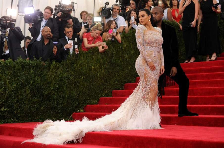 Accompagnée de Kanye West, Kim Kardashian a joué elle aussi la transparence