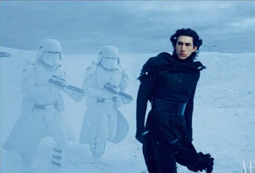 Première image d'Adam Driver dans le rôle de Kylo Ren dans Star Wars, épisode VII : Le Réveil de la Force