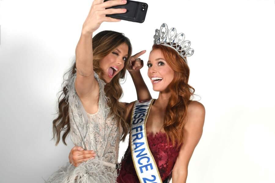 Iris remet la couronne à Maeva Coucke qui devient la nouvelle Miss France 2018